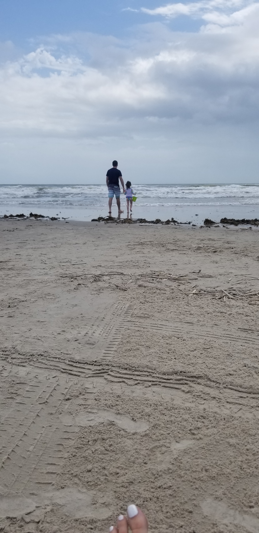 I used to go to the beach with my daddy. And, here is my son and his daughter.